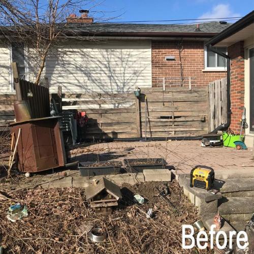 Deck Repair Before